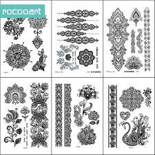 bracelet designs tattoo images Black white henna body paints temporary tattoo designs pack of 6 jpg