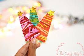 diy paper christmas tree with quilling papers