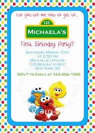 sesame street birthday invitations birthday party invitations