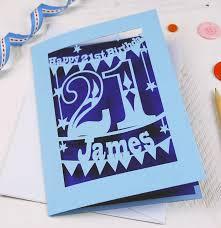 21 Birthday Card Design Personalised Papercut 21st Birthday Card By Pogofandango