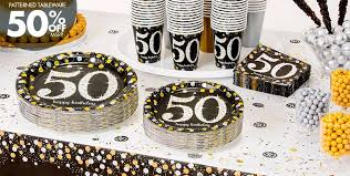 50th birthday favors sparkling celebration 50th birthday party supplies party city