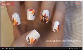 easy thanksgiving turkey nails nail for beginners