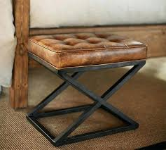 ottoman distressed leather ottoman coffee table distressed