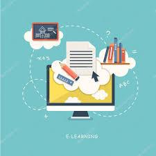 design online education flat design illustration concept for online education stock vector