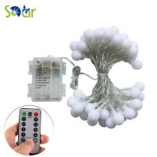 led fairy lights with timer remote timer waterproof 5m 50 led outdoor globe string lights 8