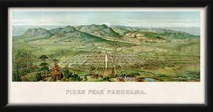 Maps Colorado Springs by Colorado Springs Co 1890 Vintage City Maps Restored City Maps