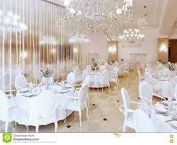 luxury modern restaurant in classic style stock illustration