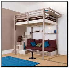 queen bed queen loft bed with stairs steel factor