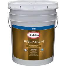 glidden premium 5 gal satin latex exterior paint gl6911 05 the