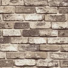 Wall Pattern by Blooming Wall Faux Rustic Tuscan Brick Wall Pattern Wallpaper