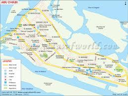 map of abu dabi map of abu dhabi city showing roads tourist places church