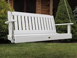 amazon com highwood lehigh porch swing 4 feet white garden