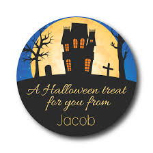 Halloween Stickers Personalized Halloween Stickers Custom Kids Halloween Party