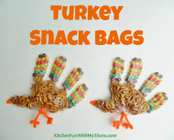 thanksgiving turkey snack bags for class at school