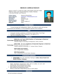 Computer Savvy Resume Resume Format Standard Resume Examples Resume Templates Examples