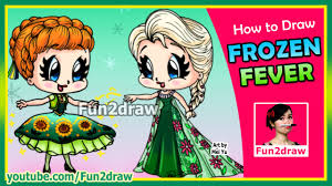 draw anna elsa frozen
