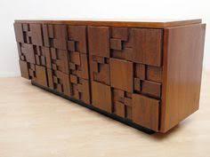 dallas mid century modern lane dresser brutalist style vintage
