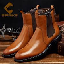 sipriks fashion mens flat chelsea boot light brown stretch leather