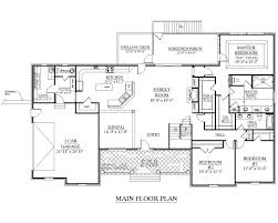 2500 sq ft house plans single story 2500 sq ft one level 4 bedroom house plans plan four
