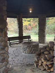 customer gazebo with fire pit landscaping pinterest outdoor