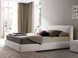 White Leather Platform Bed Leather Beds Luxedecor