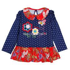 nova kids princess dress full sleeve floral high quality