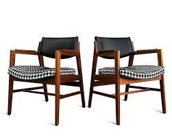 mid century modern solid walnut houndstooth lounge chairs urban