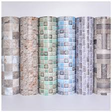 contact paper modern self adhesive waterproof wallpaper for bathroom kitchen