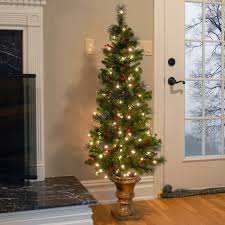 three posts spruce entrance green artificial tree with