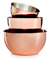 martha stewart kitchen collection martha stewart collection 3 pc copper plated mixing bowl set