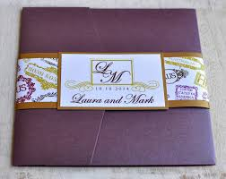 Invitation Pocket Pocket Fold Wedding Invitation Design Fee Monogram Passport