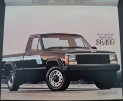 comanche jeep 2015 jeep pickup trucks comanche j10 j20 original dealer sales brochure