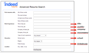 Find Free Resumes Online by Back To The Basics Slicing And Dicing Indeed U0027s Resume Search By