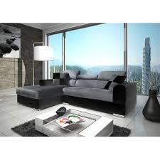 canapé d angle gris et noir canapé d angle moderne neto microfibre gris et simili noir