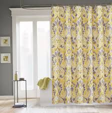 Grey Bathroom Curtains Curtains Outstanding Yellow And Gray Shower Curtain Photo Ideas