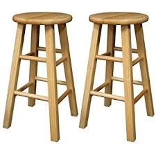 winsome wood 24 inch square leg barstool with