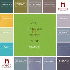 colours of the year 2017 how to use the 2017 colours of the year mecc interiors inc