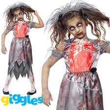 Scary Halloween Costumes Girls Age 10 Girls Zombie Bride Costume Halloween Fancy Dress Undead Age 10 12