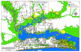flood map flood maps to large section of biloxi in flood zone