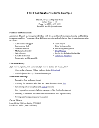 Food Service Resume Examples by Examples Of Resumes Resume Example Amazing 10 Format Ideas Free