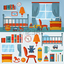 Toddler Bedroom Toys Illustration Of A Cartoon Kid Or Teenager Bedroom With Boy Or