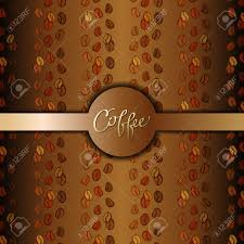 coffee shop background design coffee beans abstract brown gold background coffee seeds lines