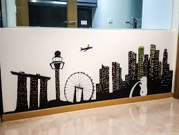 a happy mum singapore parenting blog so this is the completed look of our singapore skyline wall mural and it just makes everything feel so homely unique and welcoming