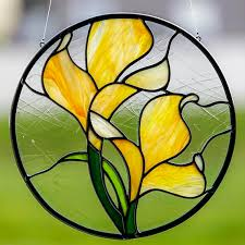 231 best flowers images on stained glass flowers