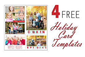 free photoshop holiday card templates from mom and camera