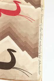 1930 art deco paul poiret for schumacher fabric of gazelles for