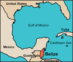 south america map belize where is belize map to show it s location in central america