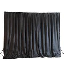 wedding backdrop curtains 20ftx10ft black chic inspired backdrop curtain for photo booth