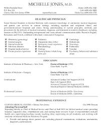 Resume Word Document Cv Template Medical