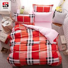 Plaid Duvet Popular Red Plaid Duvet Buy Cheap Red Plaid Duvet Lots From China